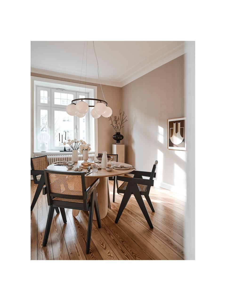 Sedia con braccioli e intreccio viennese Sissi, Struttura: legno massiccio di faggio, Seduta: rattan, Legno di faggio, Larg. 52 x Prof. 58 cm