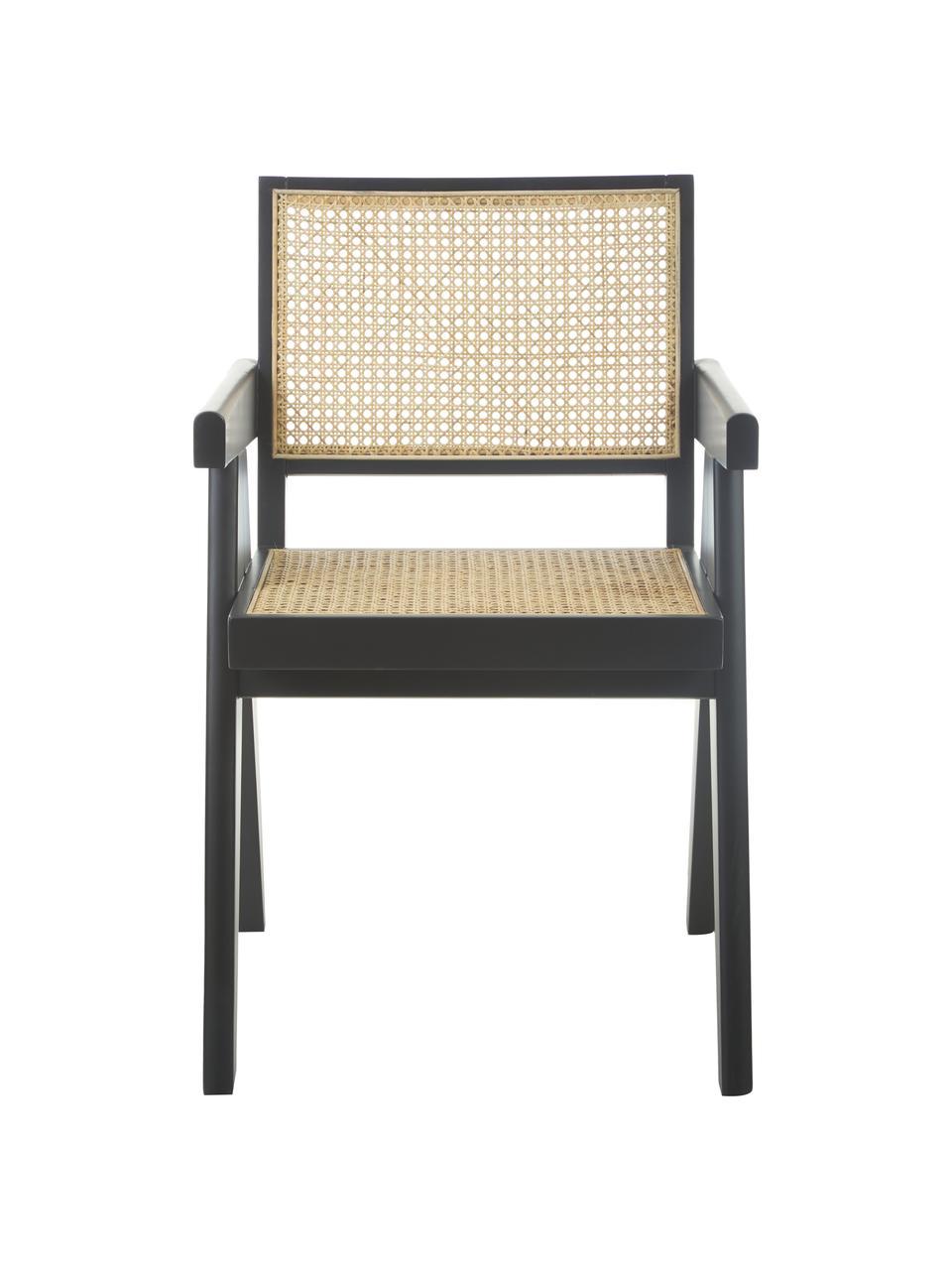 Armlehnstuhl Sissi mit Wiener Geflecht, Gestell: Massives Buchenholz, lack, Sitzfläche: Rattan, Buchenholz, B 52 x T 58 cm