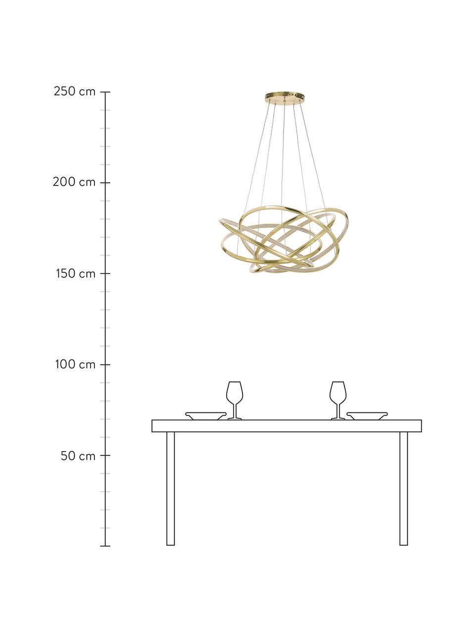 Duża lampa wisząca LED Saturn, Złoty, Ø 72 x W 75 cm