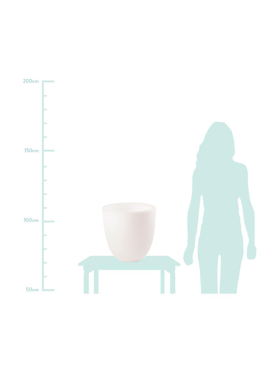 Lampa podłogowa z wtyczką Shining Curvy Pot, Biały, Ø 39 x W 39 cm
