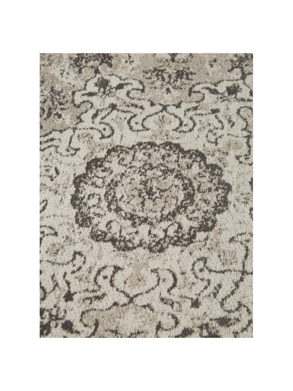 Žinylkový koberec ve vintage stylu Sofia, ručně tkaný, Béžová, šedá