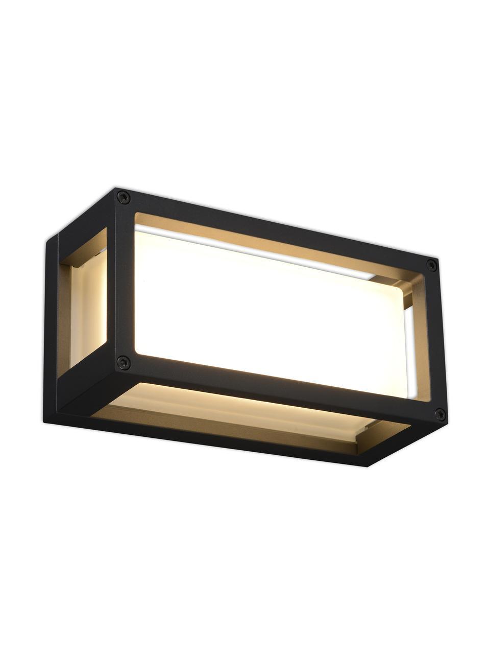 Kinkiet zewnętrzny Ray, Antracytowy, biały, S 25 x W 13 cm