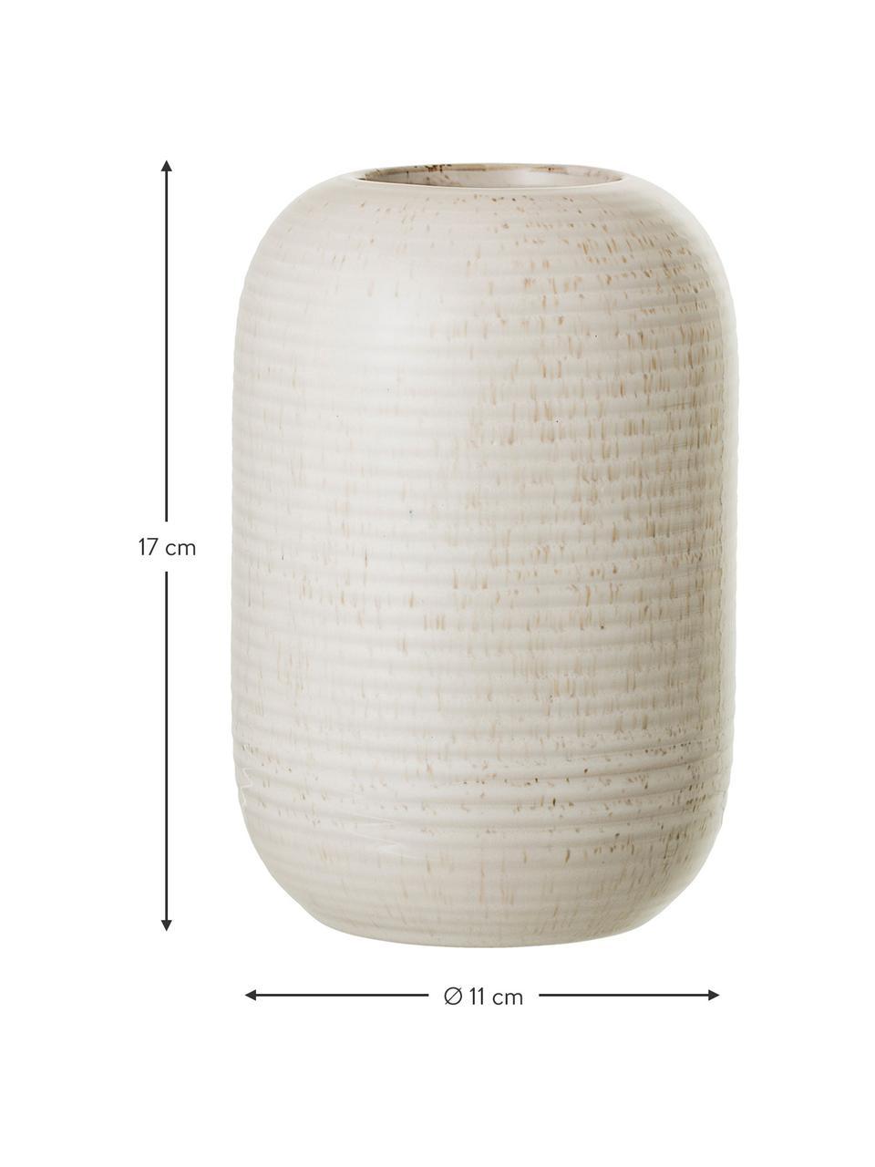 Vaso di design in gres Aya, Gres, Beige, Ø 11 x Alt. 17 cm