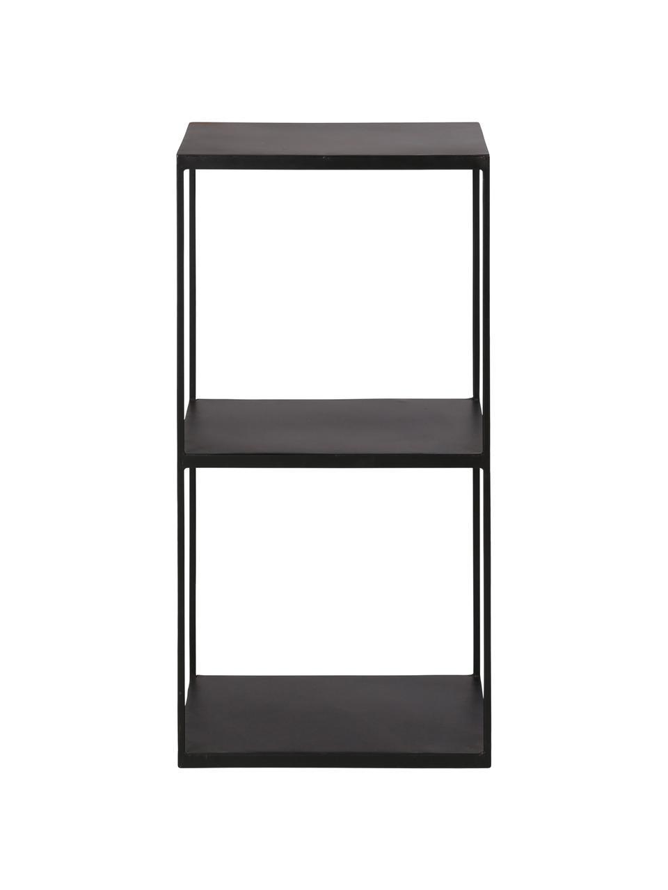 Zwart metalen wandrek Expo, Gecoat metaal, Zwart, 43 x 86 cm