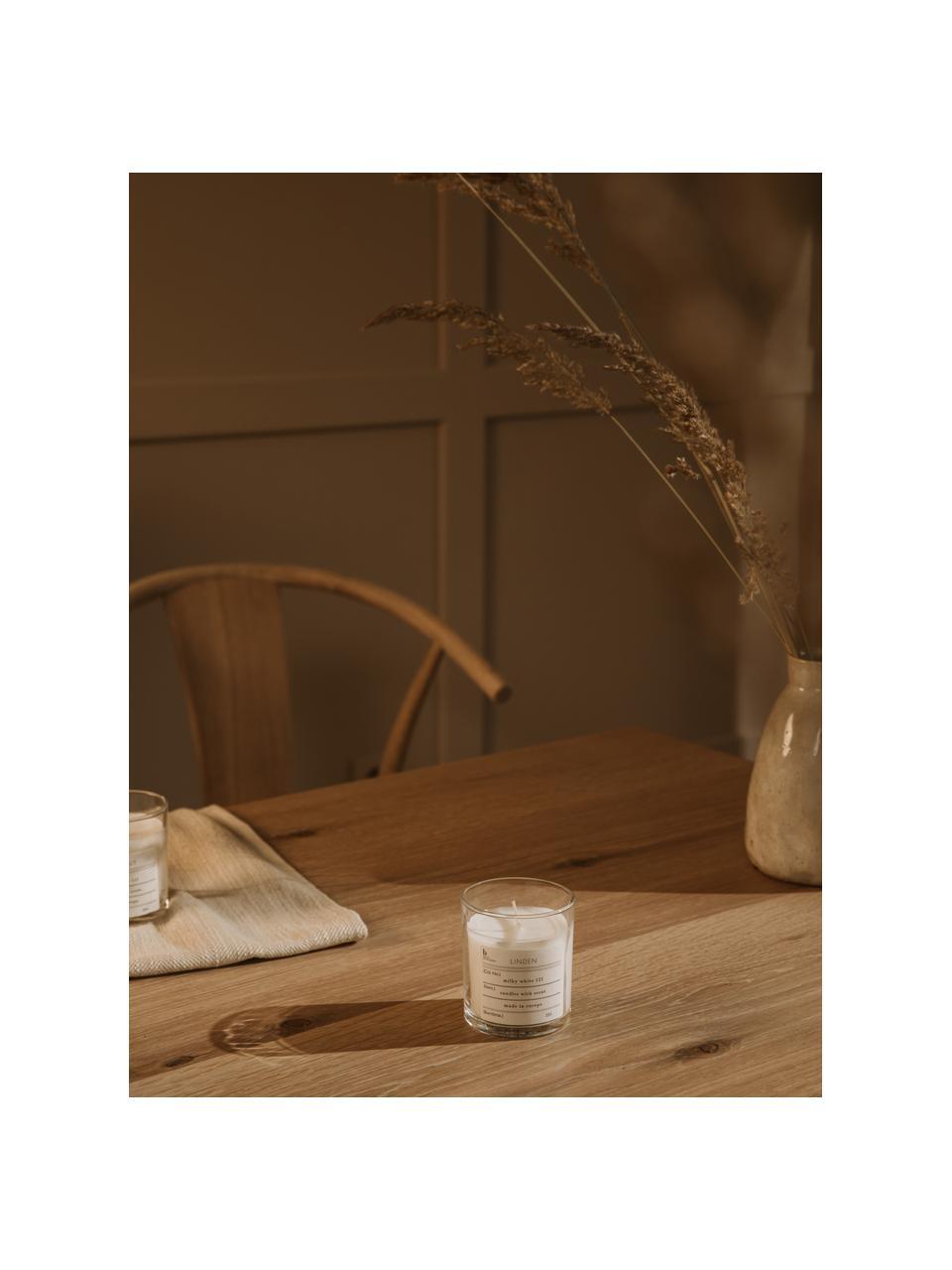 Duftkerze Linden (Lindenblüten), Natürliches Sojawachs, Glas, Lindenblüten, Ø 8 x H 8 cm