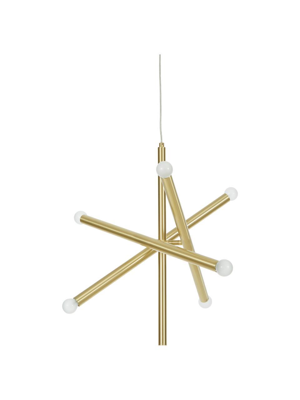 Suspension design dorée Sticks, Laitonné