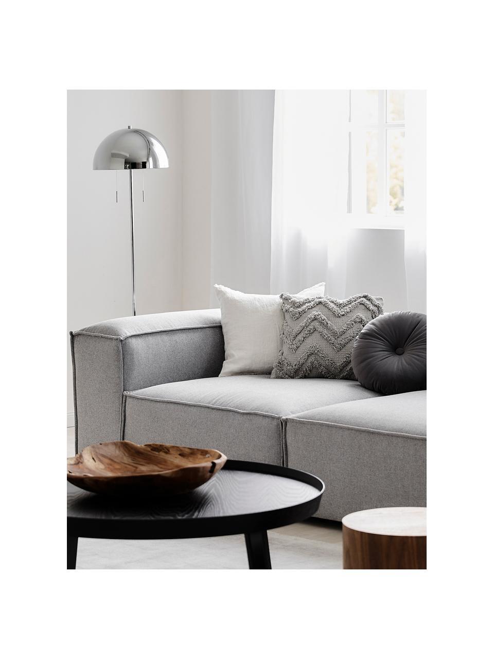 Cuscino in velluto effetto lucido con imbottitura Monet, Rivestimento: 100% velluto di poliester, Grigio scuro, Ø 40