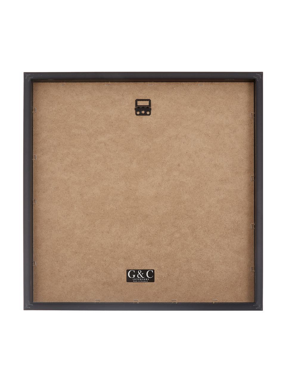 Gerahmter Digitaldruck Moh.Ali, Bild: Digitaldruck, Rahmen: Kunststoff, Front: Glas, Bild: Schwarz, Weiß Rahmen: Schwarz, 40 x 40 cm