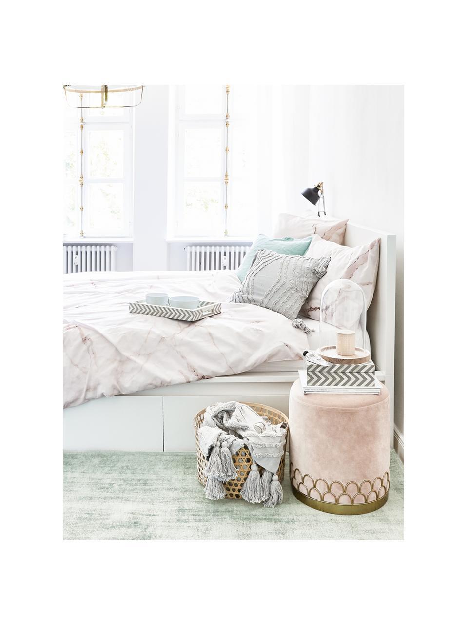 Ručně tkaný viskózový koberec Jane, Mátově zelená