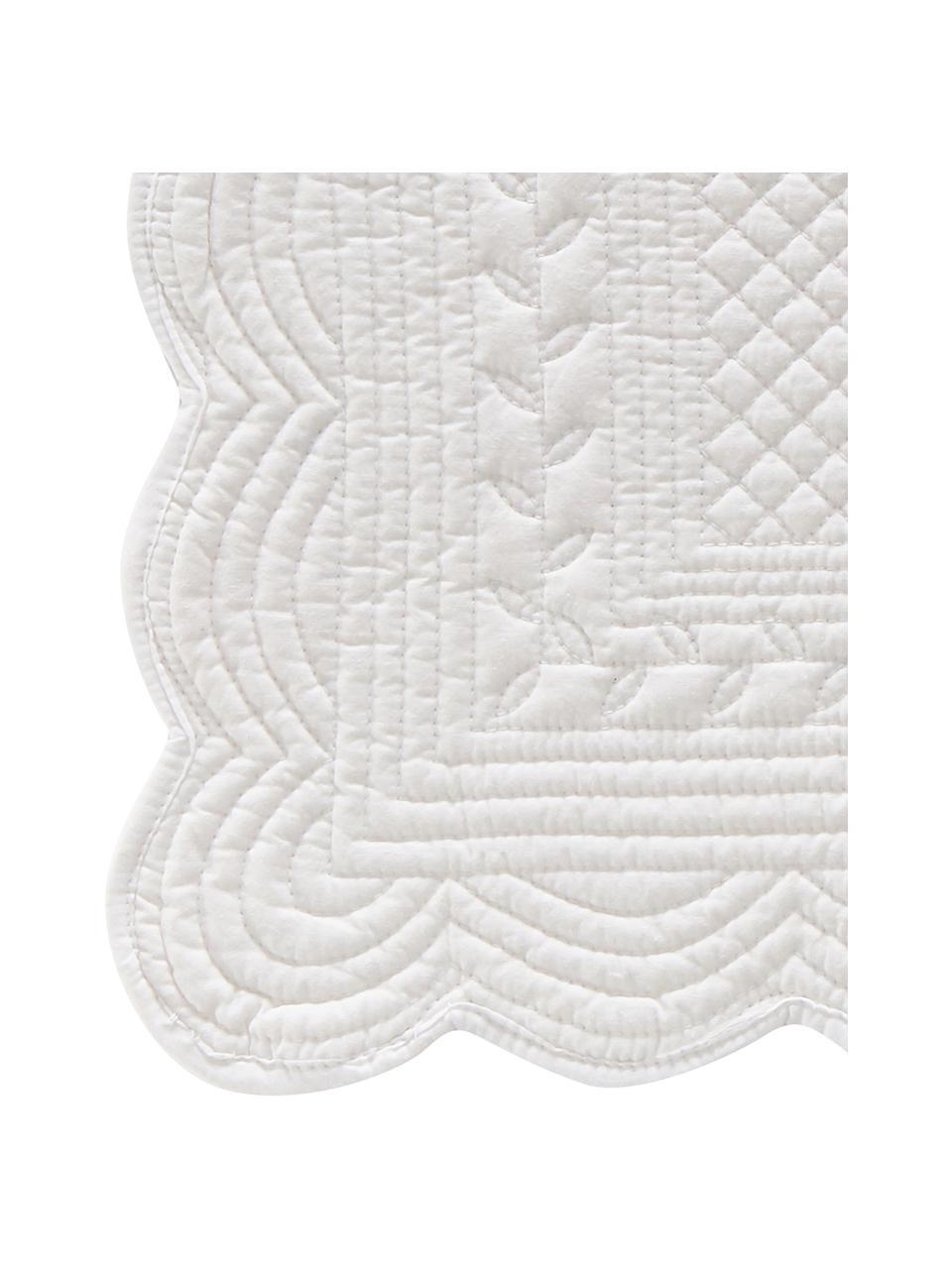 Tovaglietta americana in cotone Boutis 2 pz, 100% cotone, Bianco, Larg. 34 x Lung. 48 cm
