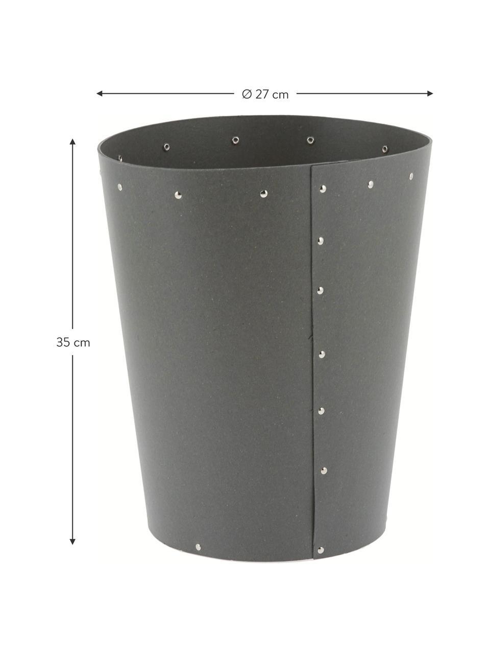 Papierkorb Aries, Fester, laminierter Karton, Grau, Silberfarben, Ø 27 x H 35 cm