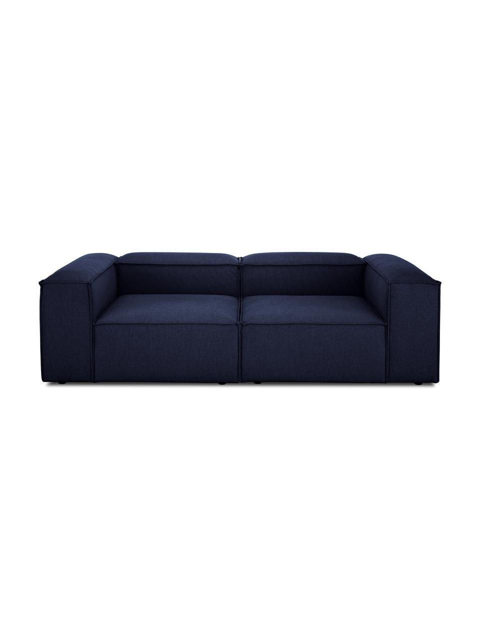 Canapé modulable bleu 3 places Lennon, Tissu bleu