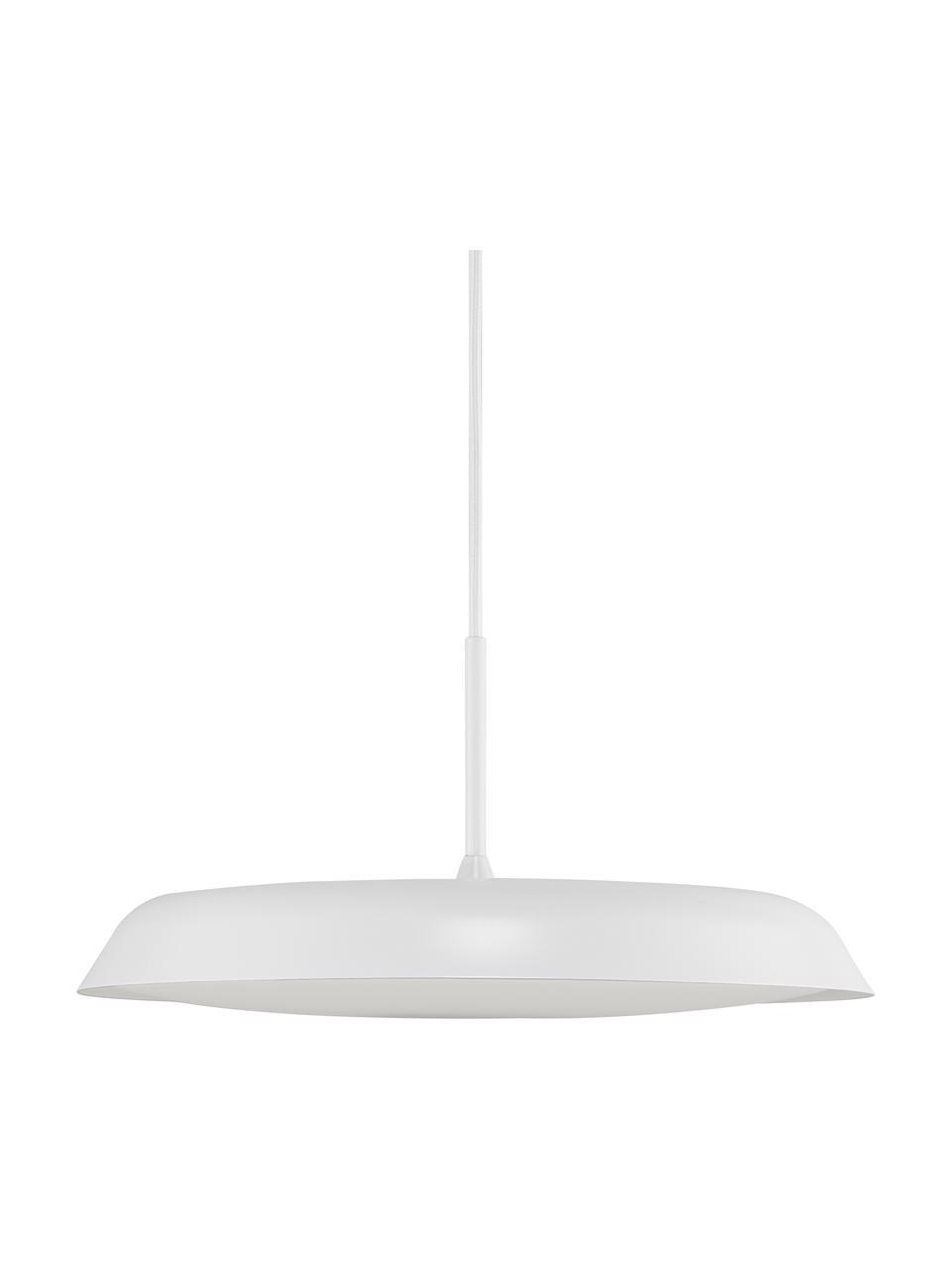 Dimmbare LED-Pendelleuchte Piso in Weiß, Lampenschirm: Metall, beschichtet, Weiß, Ø 36 x H 17 cm