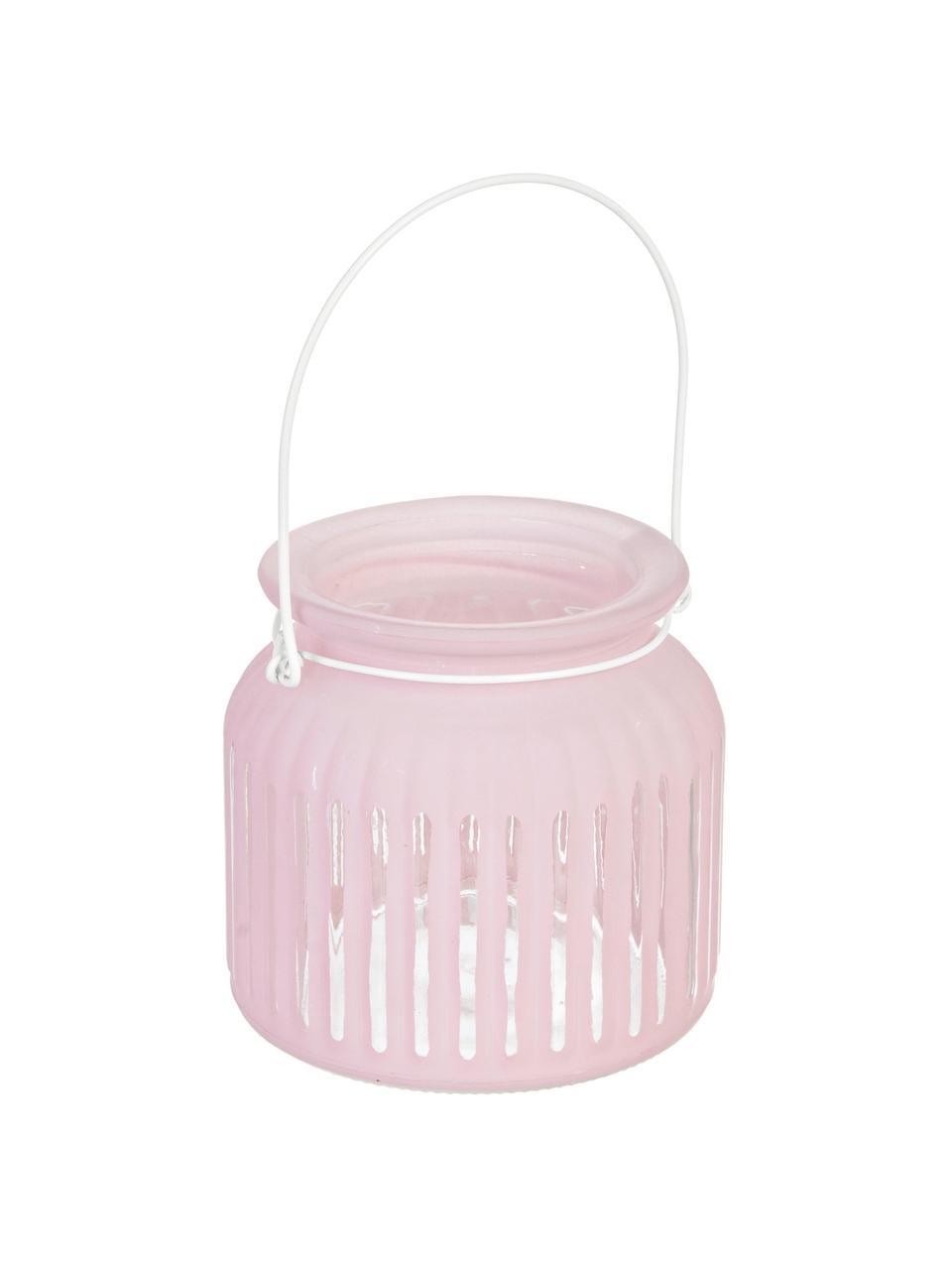 Windlicht Claire, Windlicht: glas, Roze, Ø 11 x H 11 cm