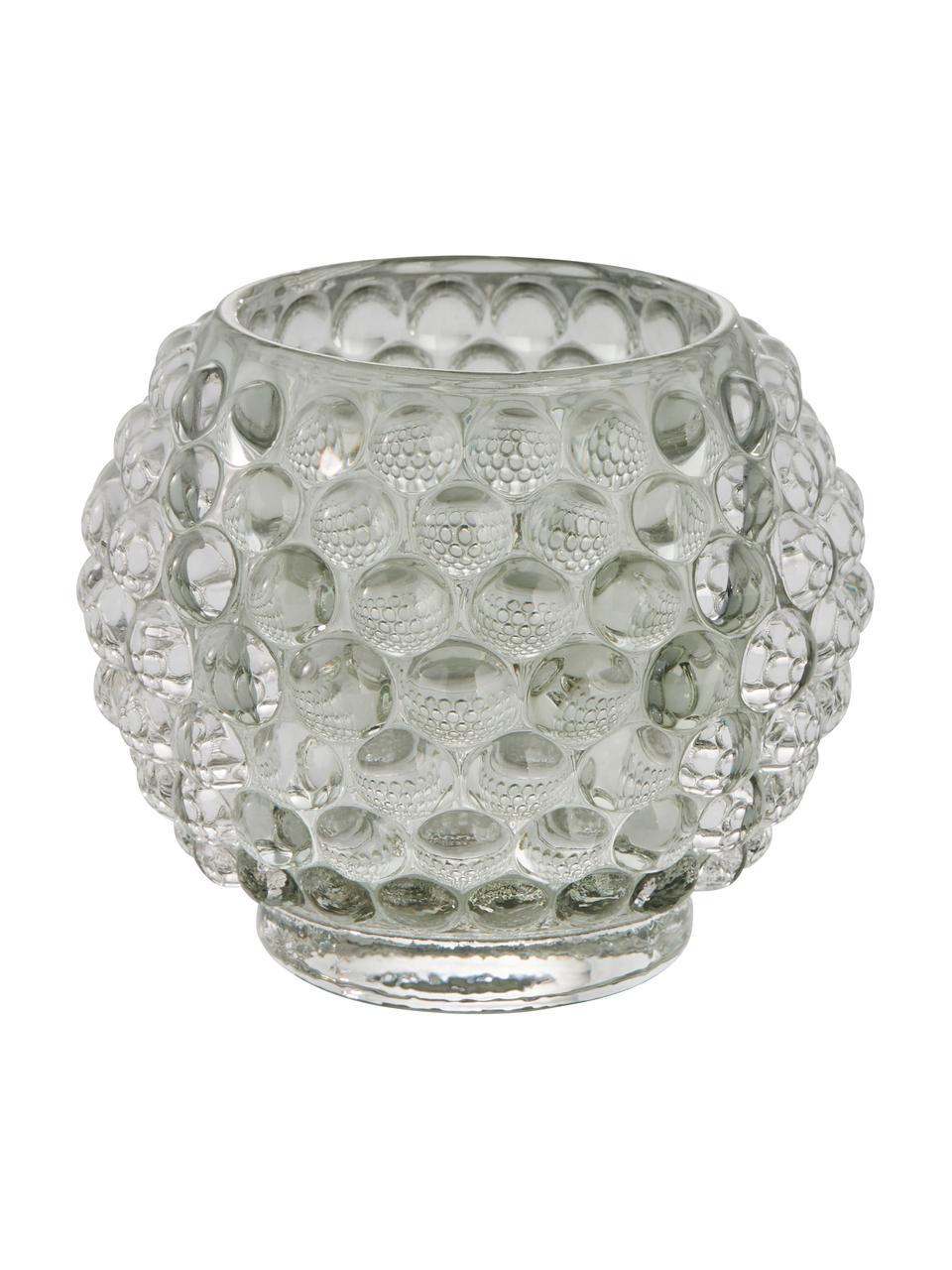 Bougeoir en verre fait main Doria, Transparent