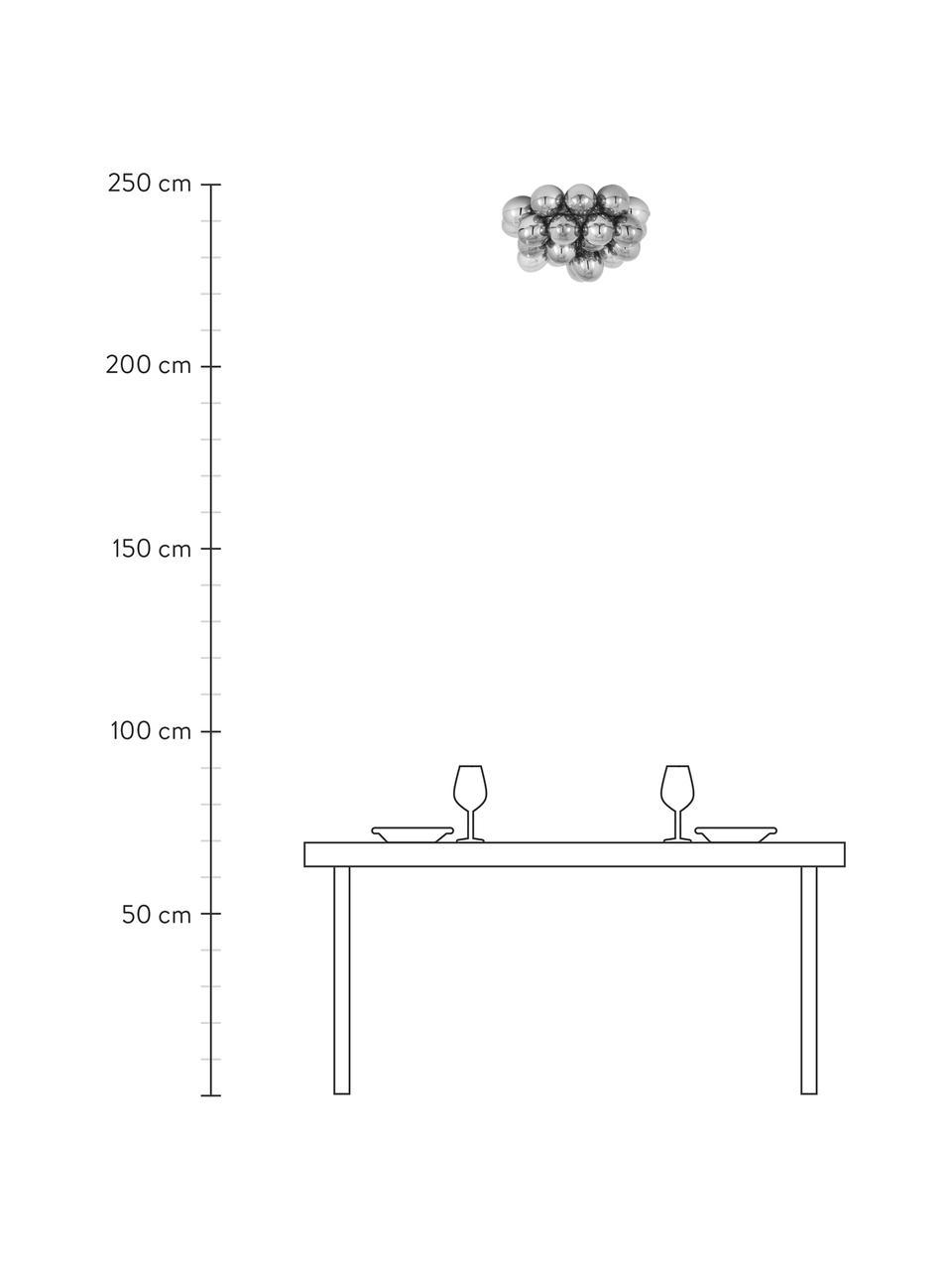 Glaskugel-Deckenleuchte Gross, Baldachin: Nickel, verchromt, Chrom, Ø 50 x H 27 cm