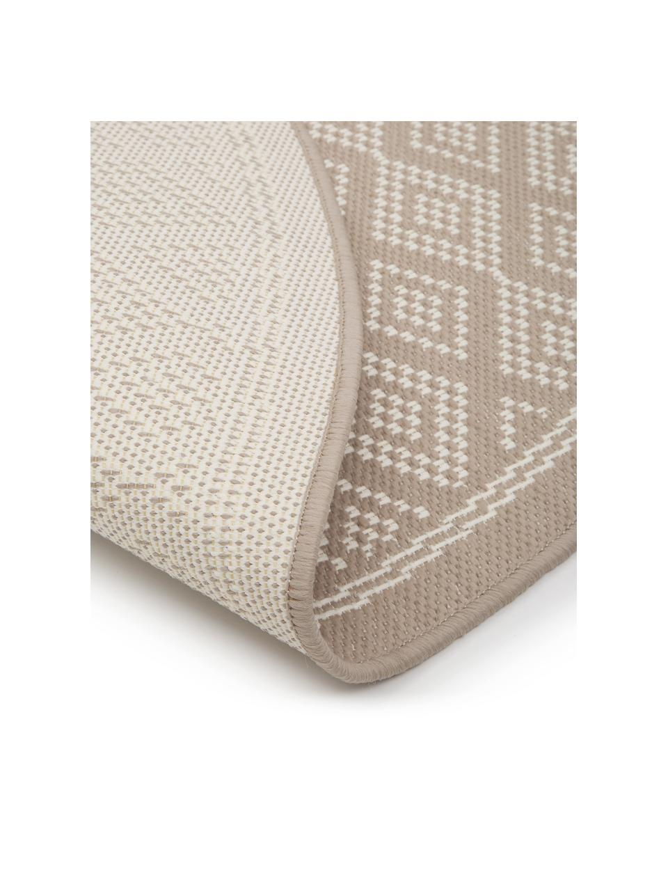 Tappeto beige/crema da interno-esterno Capri, 86% polipropilene, 14% poliestere, Bianco, beige, Ø 200 cm (taglia L)