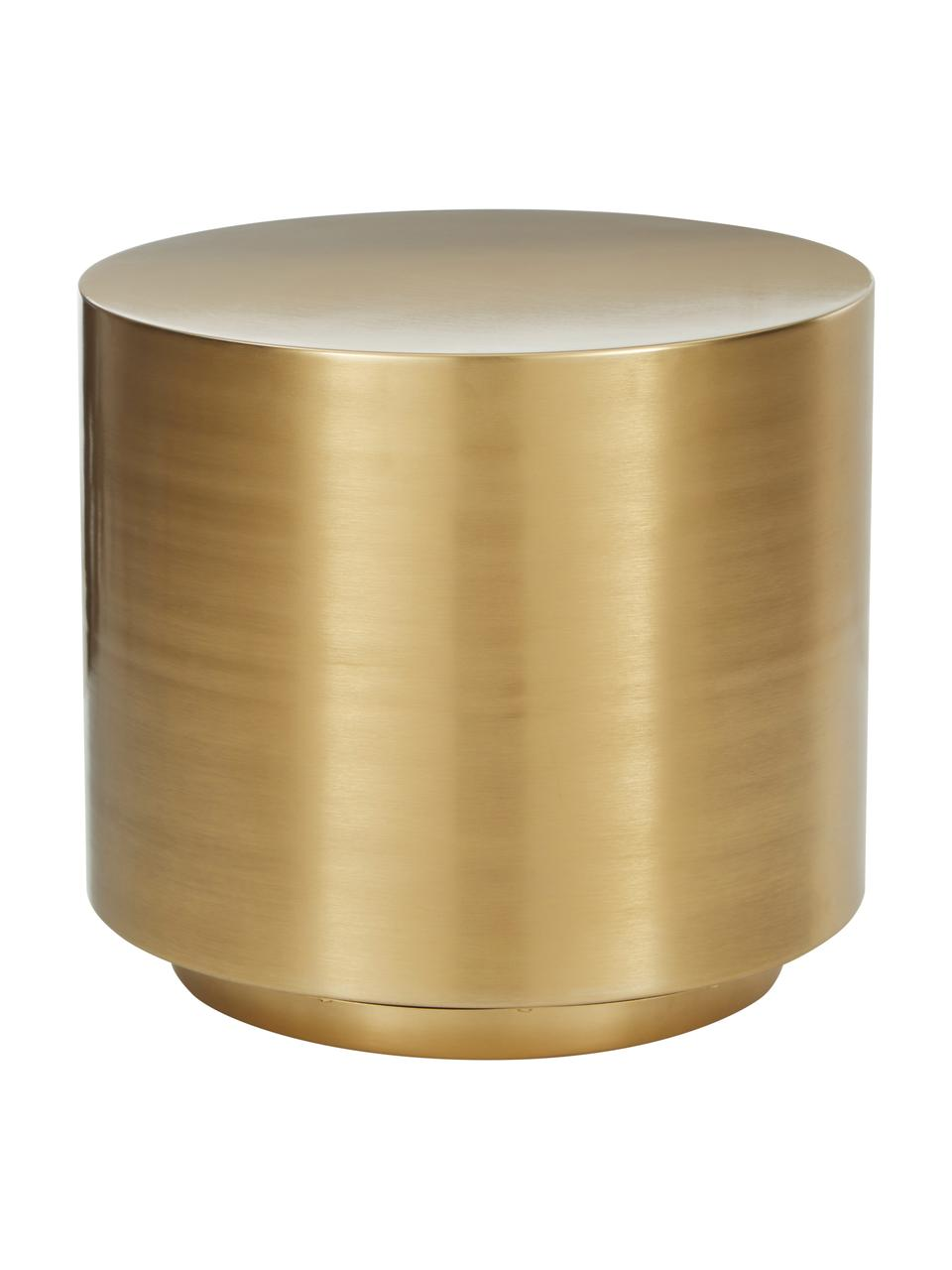 Stolik pomocniczy z metalu Step, Metal szczotkowany, Odcienie mosiądzu, Ø 50 x W 46 cm