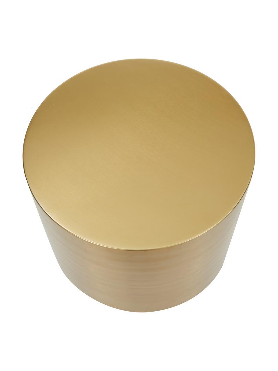 Tavolino rotondo in ottone Step, Metallo spazzolato, Ottone, Ø 50 x Alt. 46 cm