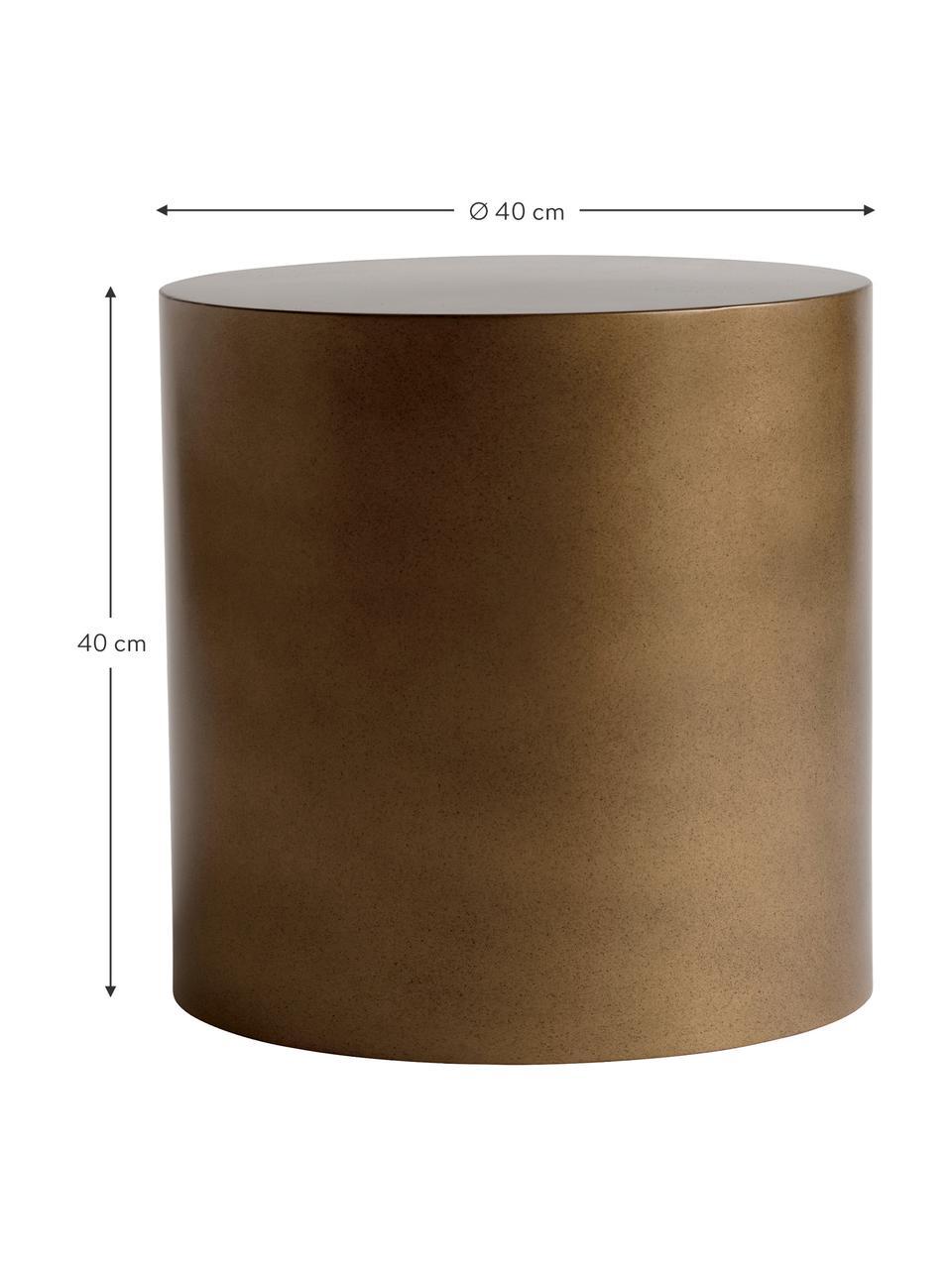Okrągły stolik pomocniczy z metalu Metdrum, Metal, Odcienie miodowego, Ø 40 x W 40 cm