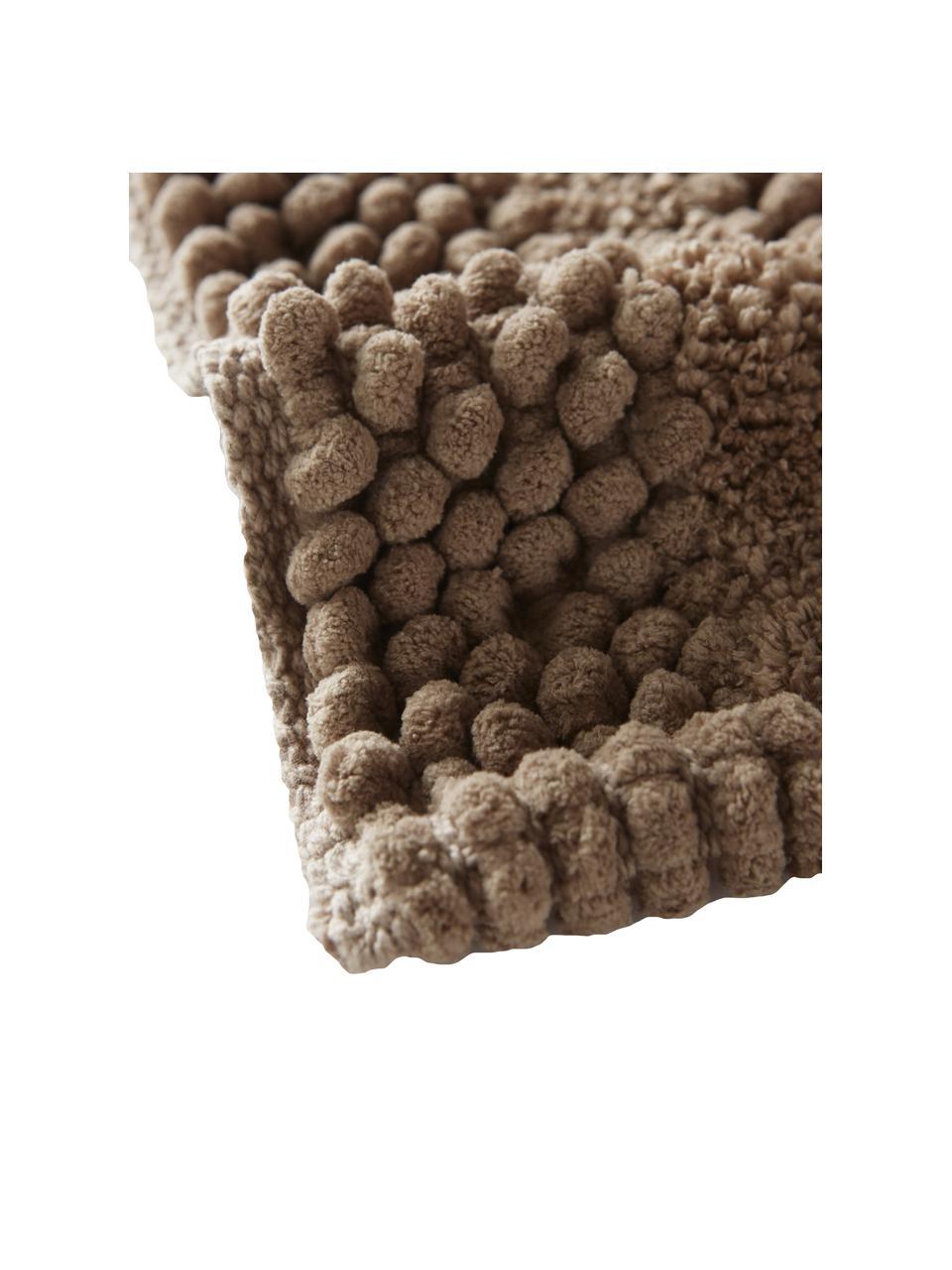 Tappeto bagno Nea, 65% poliestere, 35% cotone, Color sabbia, Larg. 80 x Lung. 120 cm