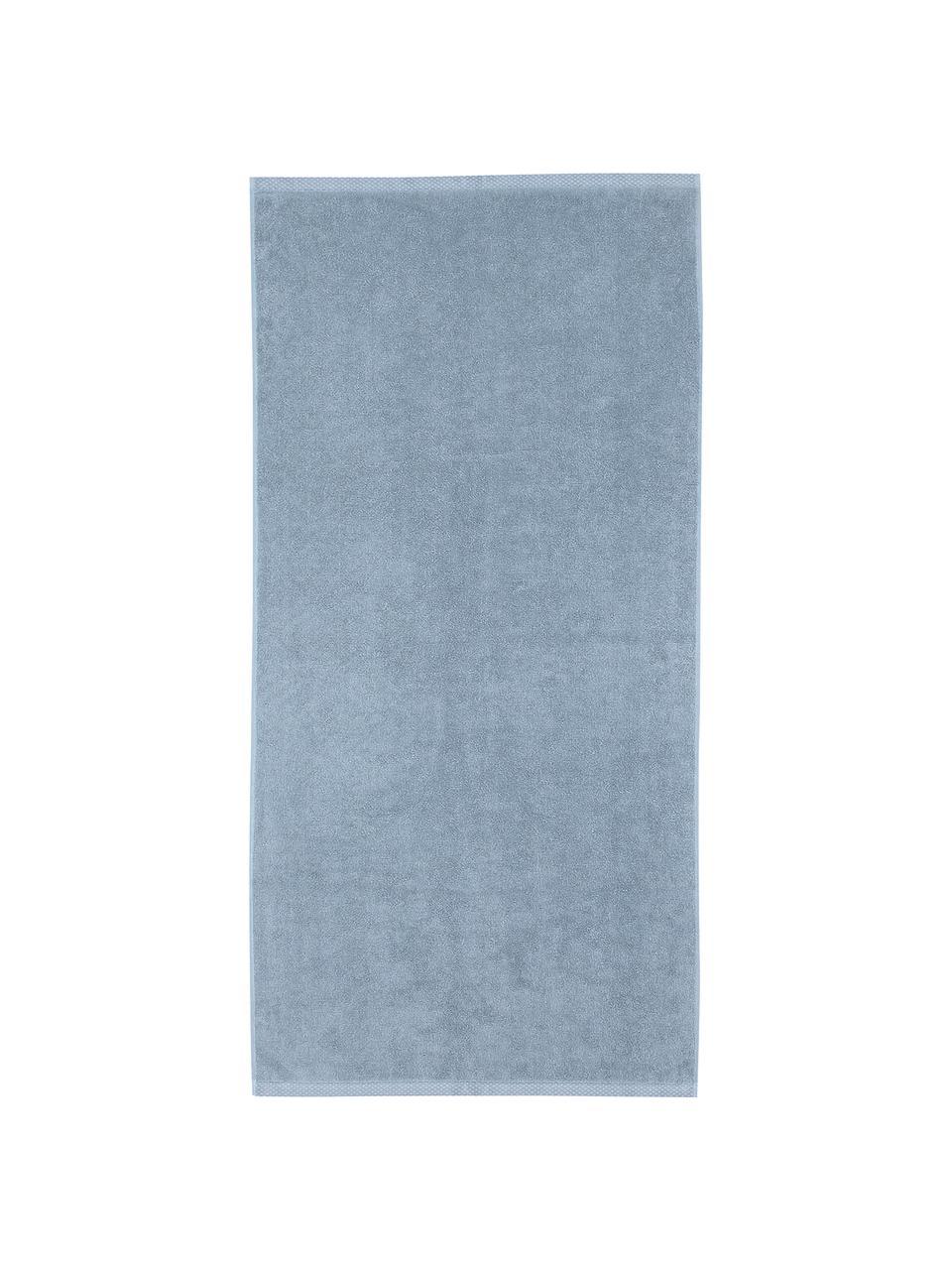 Set 3 asciugamani in tinta unita Comfort, Azzurro, Set in varie misure