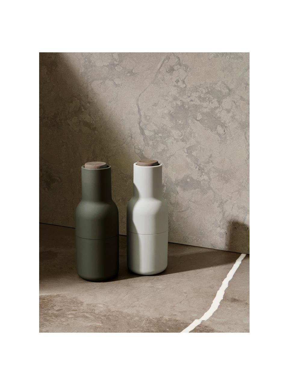 Komplet młynków do soli i pieprzu Bottle Grinder, 2elem., Korpus: tworzywo sztuczne, Ciemnozielony, beżowy, Ø 8 x W 21 cm