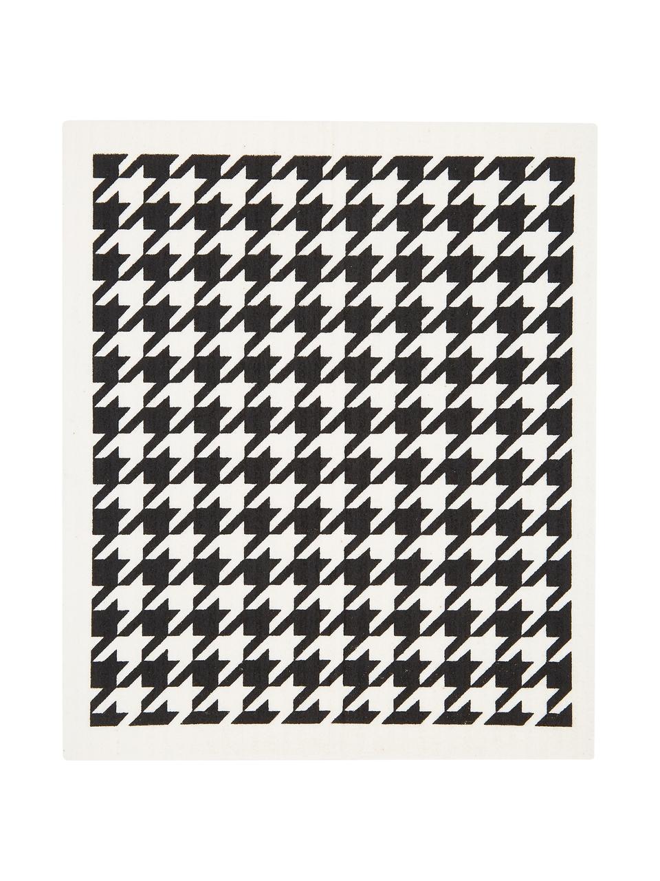 Komplet ściereczek kuchennych Tokio, 3 elem., 70% celuloza, 30% bawełna, Biały, czarny, S 17 x D 20 cm