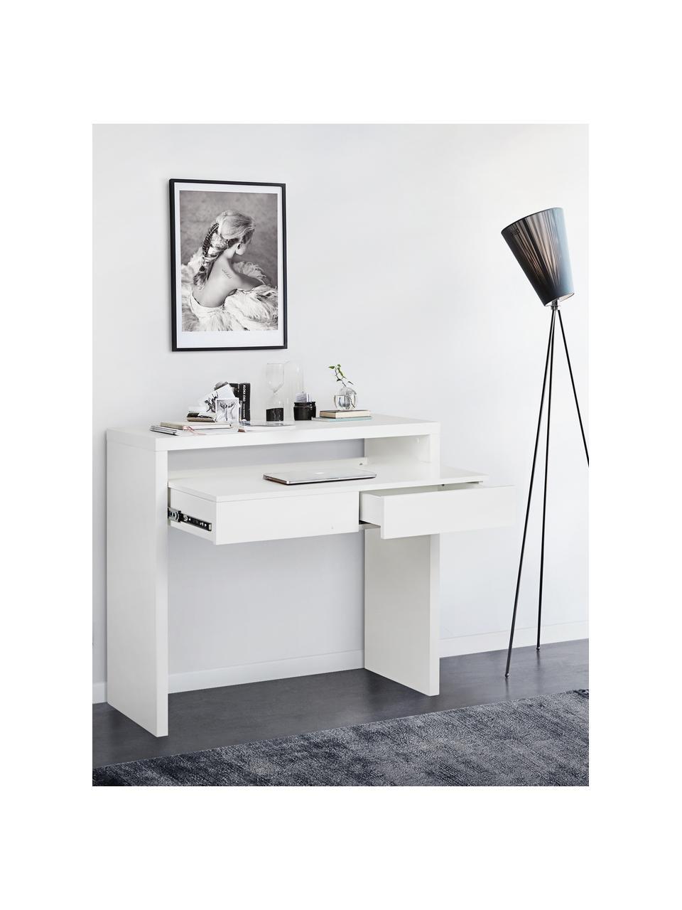 Petit bureau avec plateau extensible Teresa, Blanc