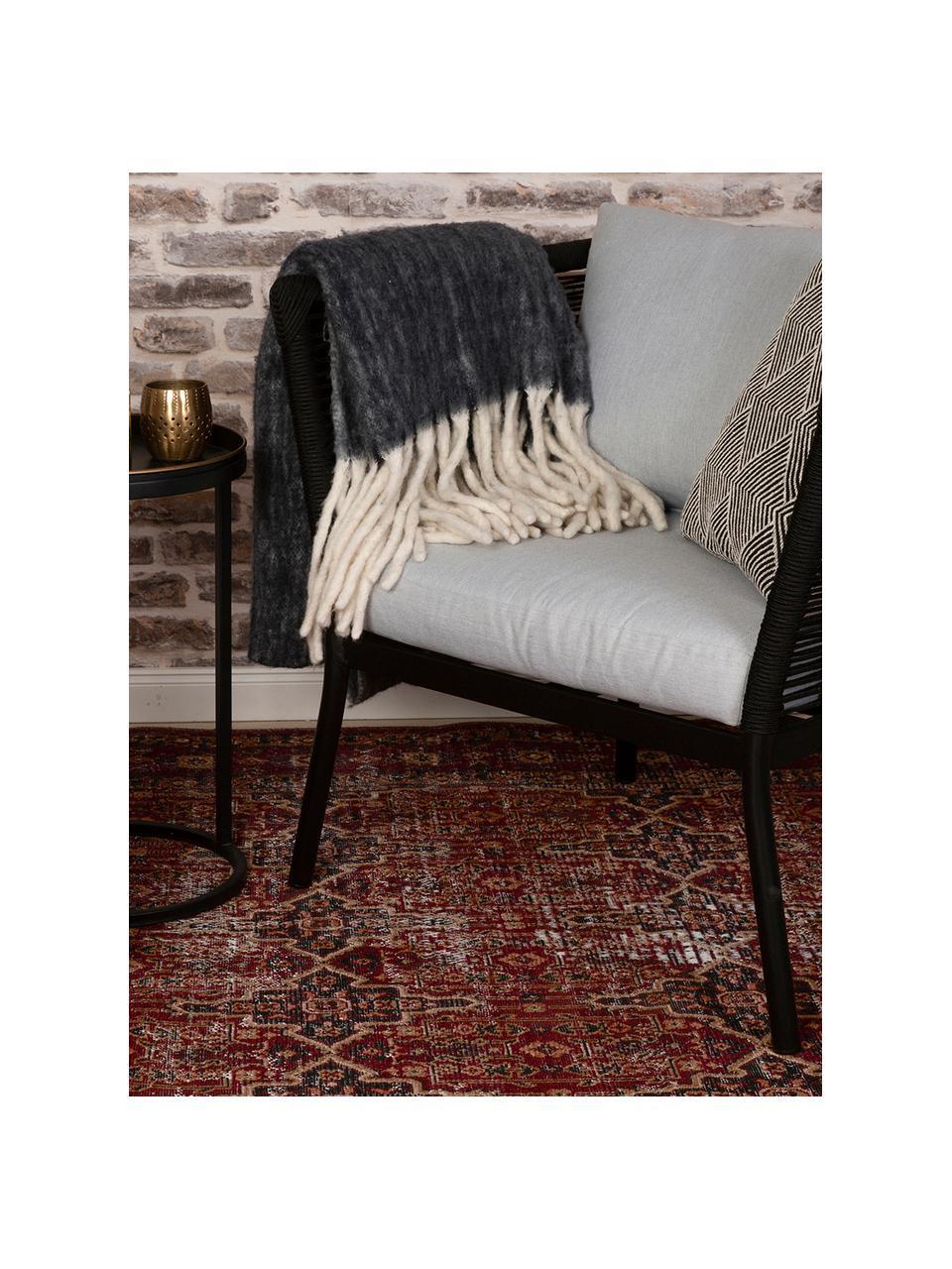 In- & outdoor vloerkleed Tilas Izmir in donkerrood, Orient Style, Donkerrood, mosterdgeel, kakigroen, B 200 x L 290 cm (maat L)