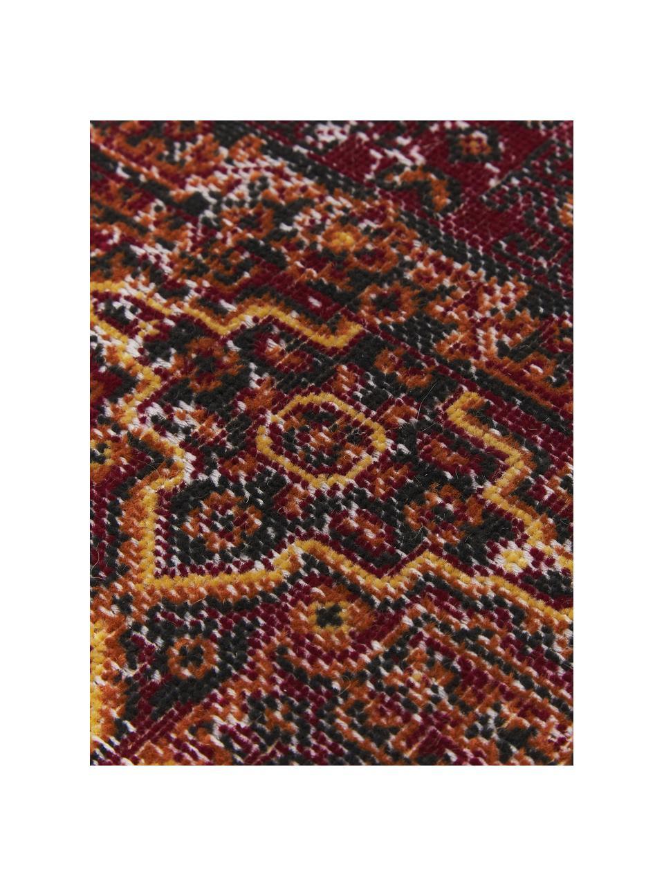 Dywan wewnętrzny/zewnętrzny w stylu orient Tilas Izmir, 100% polipropylen, Ciemny czerwony, musztardowy, khaki, S 200 x D 290 cm (Rozmiar L)