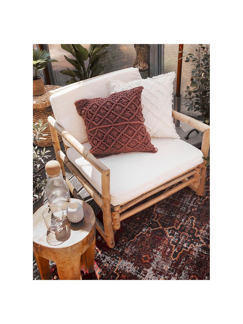 In- & Outdoor-Teppich Tilas Izmir in Dunkelrot, Orient Style, 100% Polypropylen, Dunkelrot, Senfgelb, Khaki, B 80 x L 150 cm (Größe XS)