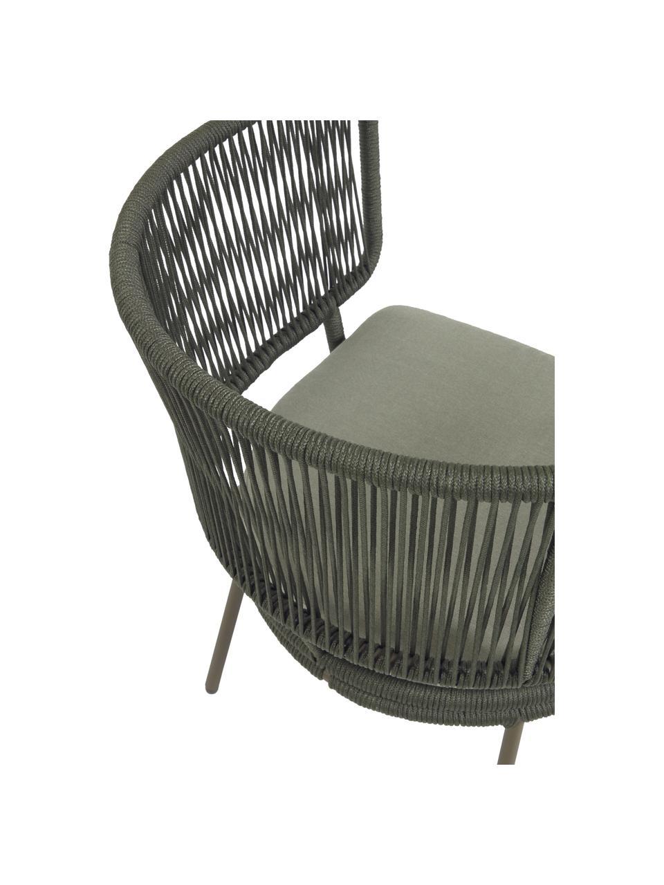 Garten-Loungesessel Nadin, Gestell: Metall, verzinkt und lack, Bezug: Polyester, Grün, B 74 x T 65 cm