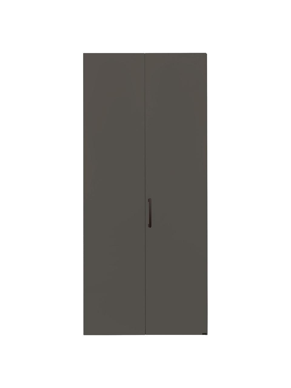 Kleiderschrank Madison 2-türig, inkl. Montageservice, Korpus: Holzwerkstoffplatten, lac, Grau, Ohne Spiegeltür, 102 x 230 cm