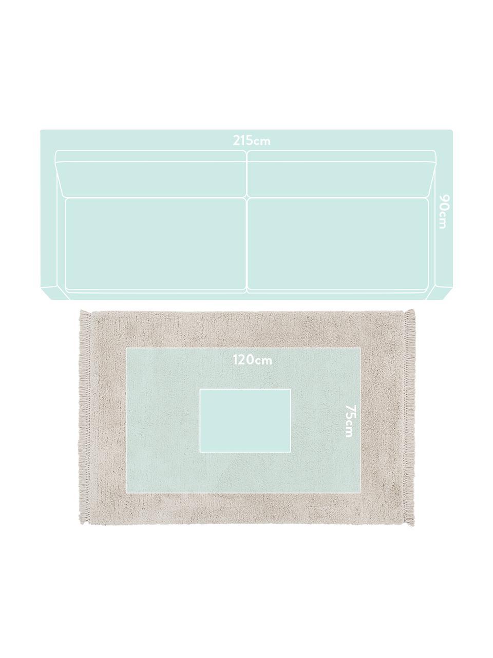 Tappeto morbido a pelo lungo Dreamy, Retro: 100% cotone, Crema, Larg. 200 x Lung. 300 cm (taglia L)