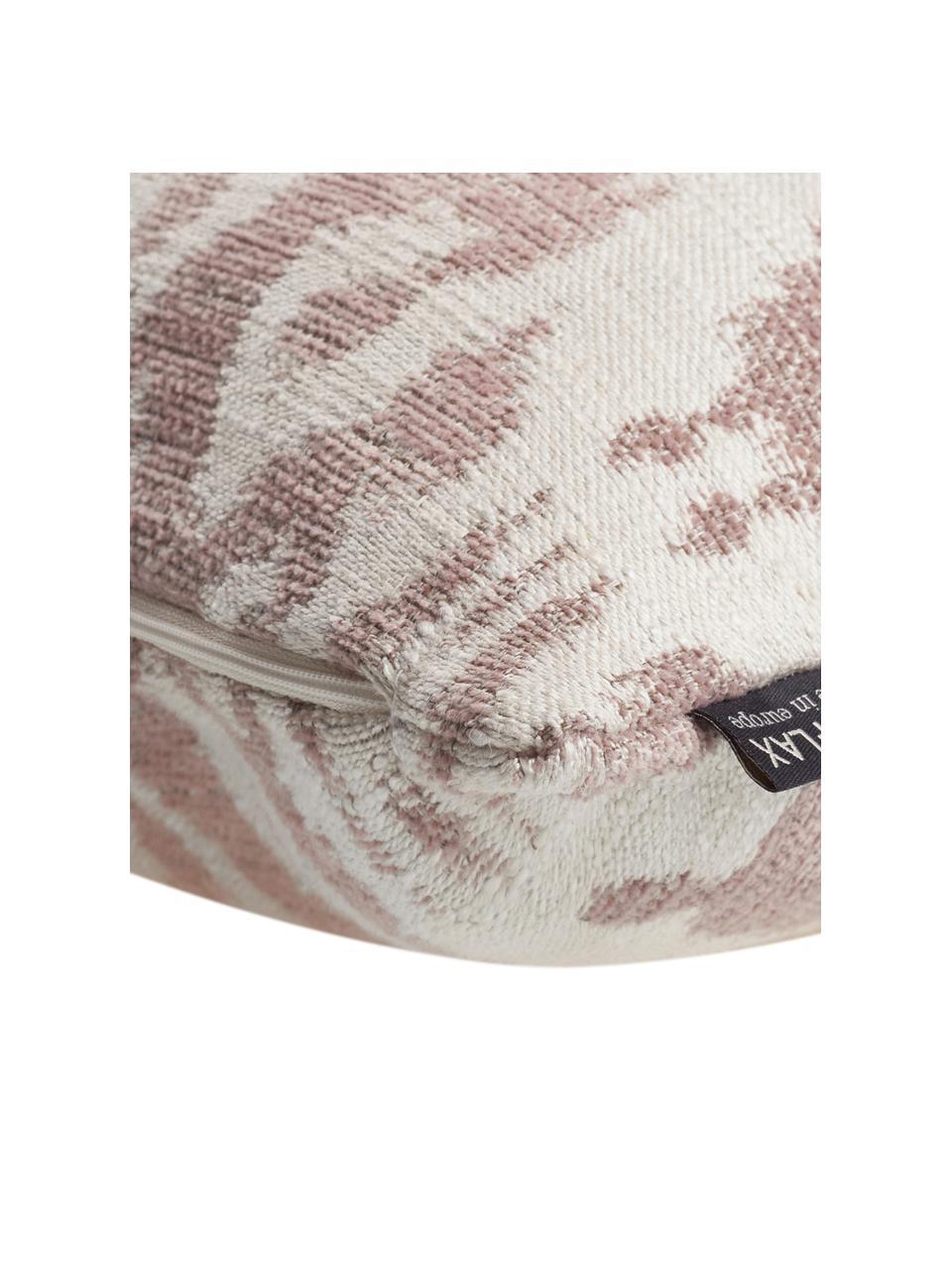 Kissenhülle Vanja in Hellrosa/Creme, 52% Polyester, 32% Viskose, 16% Leinen, Beige, Creme, 45 x 45 cm