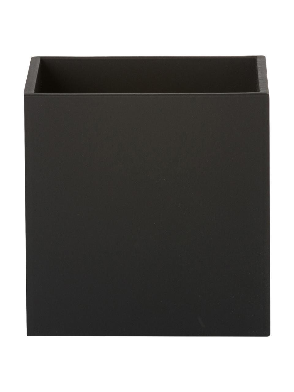 Wandleuchte Quad in Schwarz, Lampenschirm: Aluminium, pulverbeschich, Schwarz, 10 x 10 cm