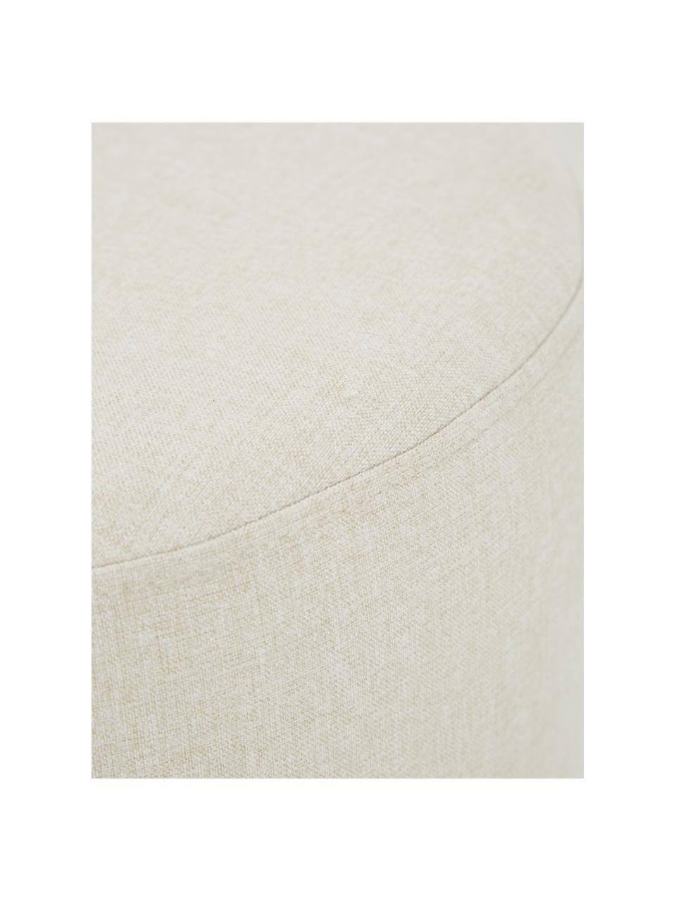 Hocker Mara mit Wiener Geflecht, Bezug: Polyester 40.000 Scheuert, Rahmen: Sperrholz, Fuß: Massives Birkenholz, Ratt, Beige, Ø 37 x H 39 cm