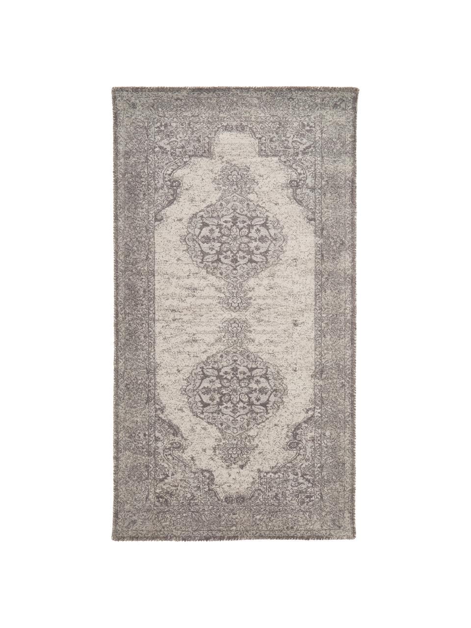 Teppich Elegant im Vintage Style, Flor: 100% Nylon, Grau, B 80 x L 150 cm (Größe XS)