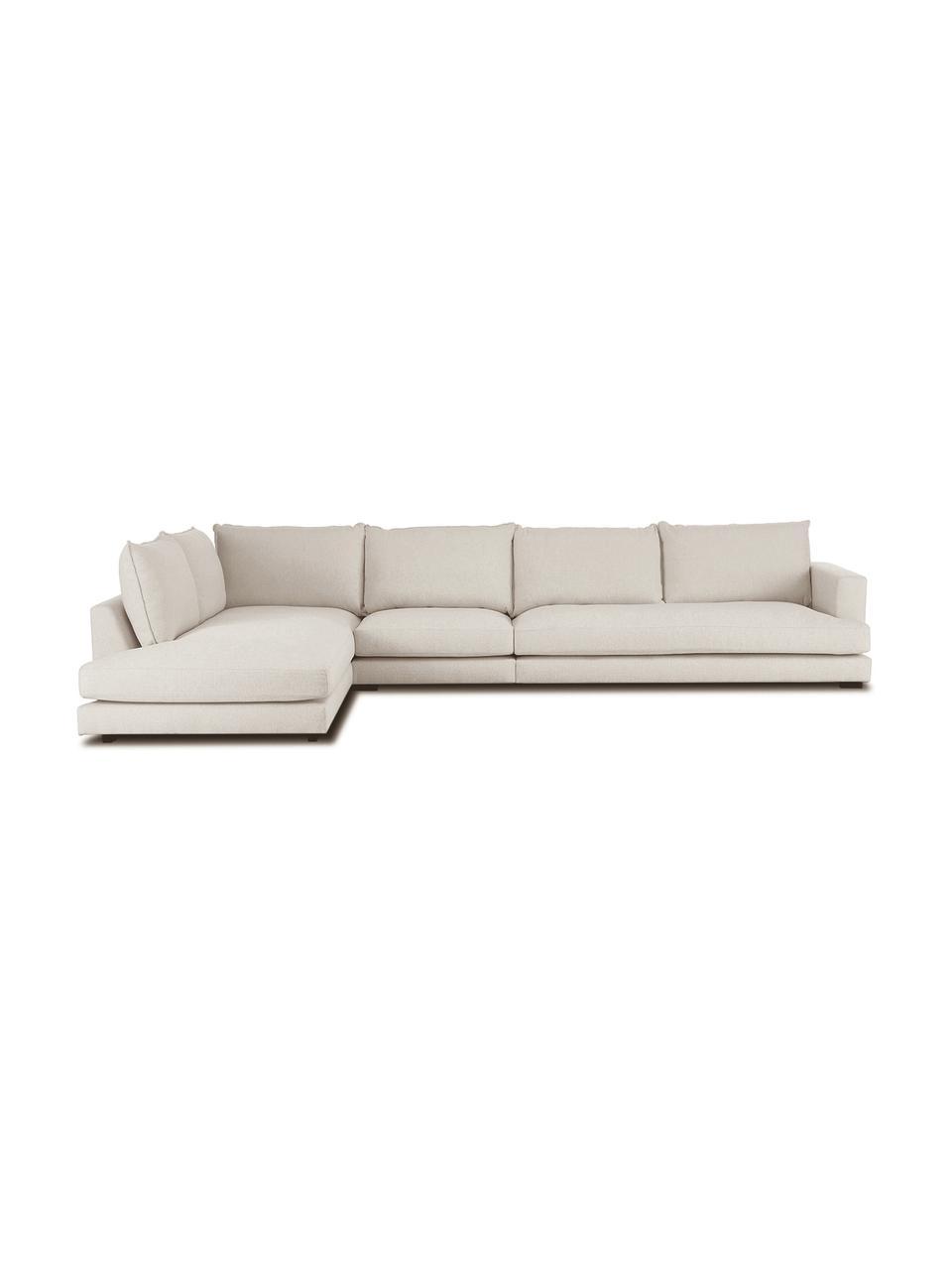 Canapé d'angle XL beige foncé Tribeca, Tissu beige foncé