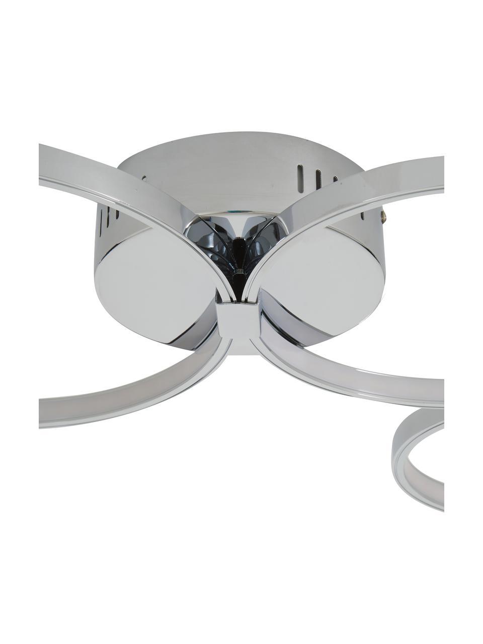 LED-Deckenleuchte Solexa, Baldachin: Metall, verchromt, Chrom, 75 x 7 cm