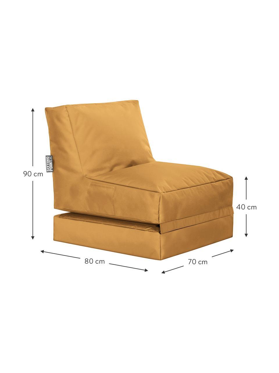 Fotel ogrodowy z funkcją leżenia Pop Up, Tapicerka: 100% poliester Wewnątrz p, Musztardowy, S 70 x G 90 cm