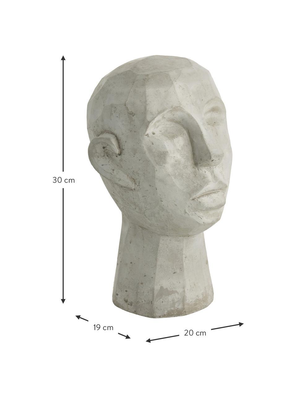 Dekoracja Kopf, Cement, Szary, S 20 x W 30 cm