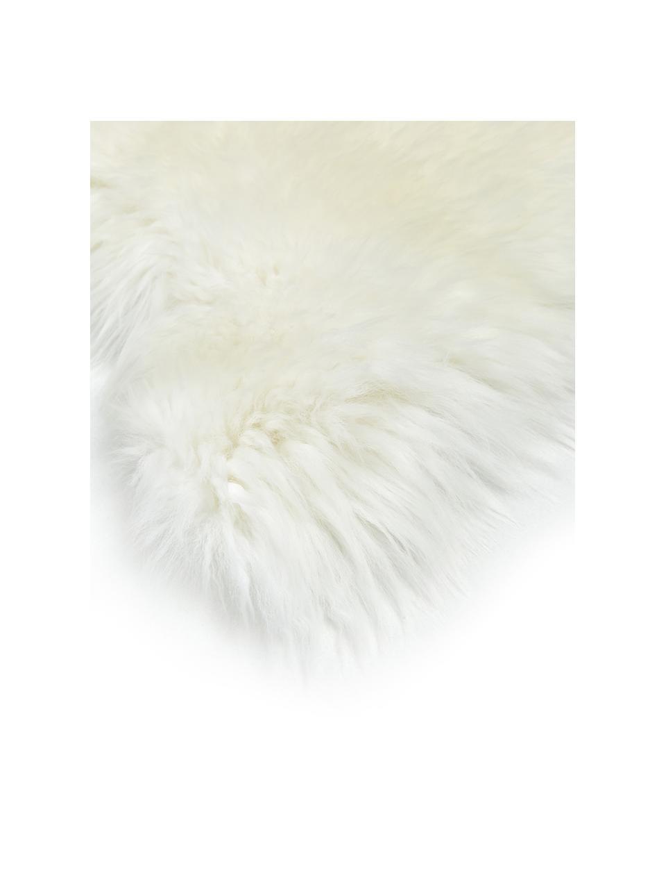 Pelle di pecora liscia Oslo, Retro: 100% pelle rivestita senz, Bianco crema, Larg. 60 x Lung. 90 cm