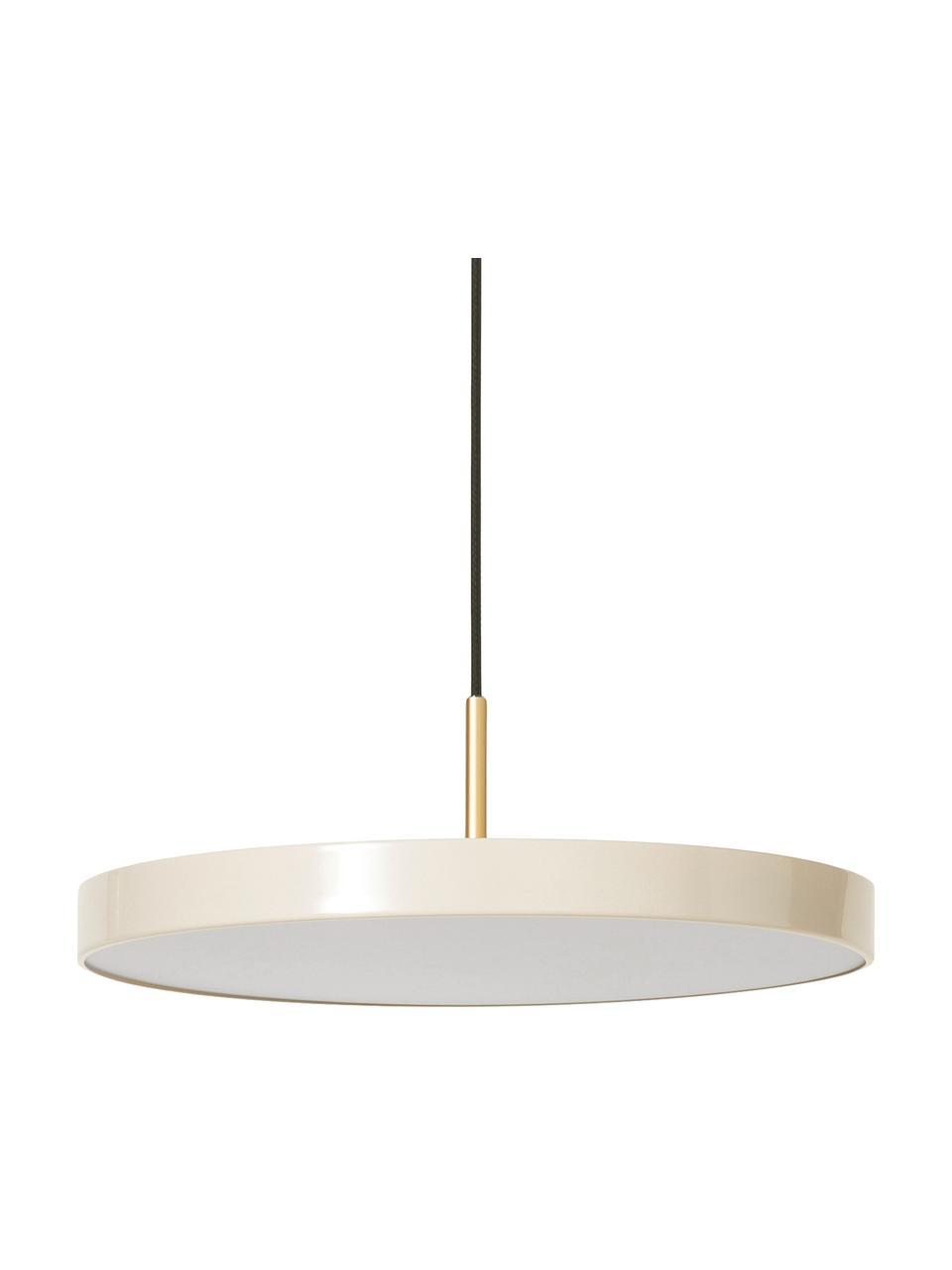 Design LED hanglamp Asteria, Lampenkap: gelakt aluminium, Parelwit, goudkleurig, Ø 31  x H 14 cm