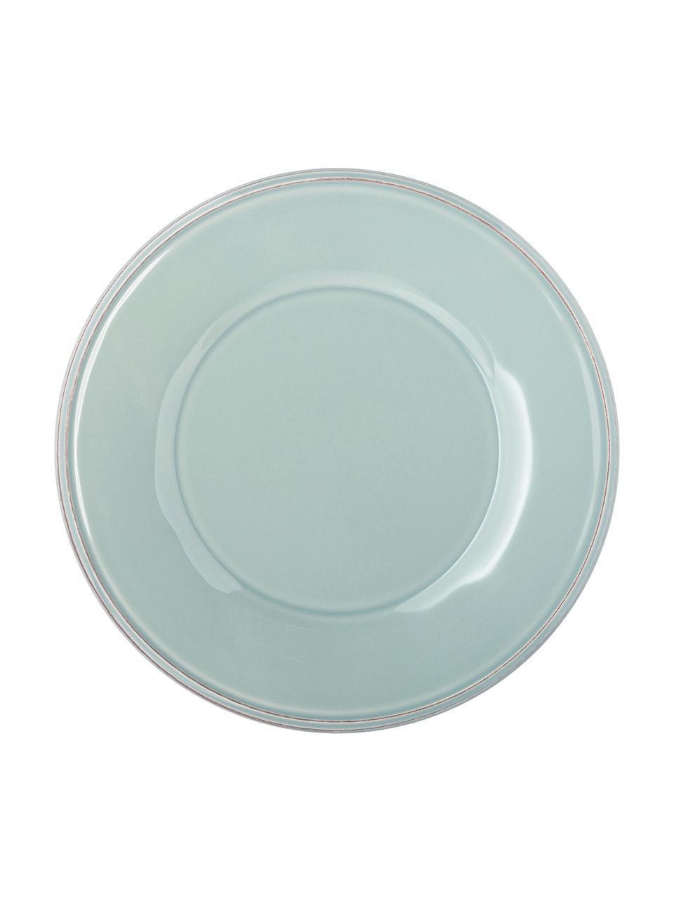 Assiette à dessertrustique Constance, 2pièces, Bleu, turquoise