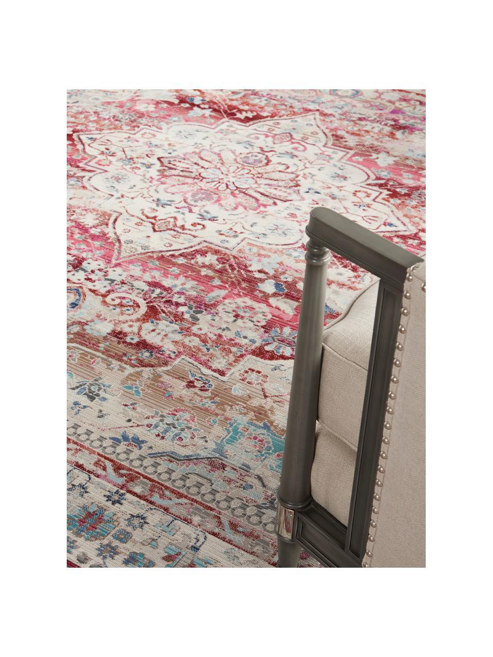 Dywan w stylu vintage Kashan, Beżowy, czerwony, niebieski, S 160 x D 240 cm (Rozmiar M)