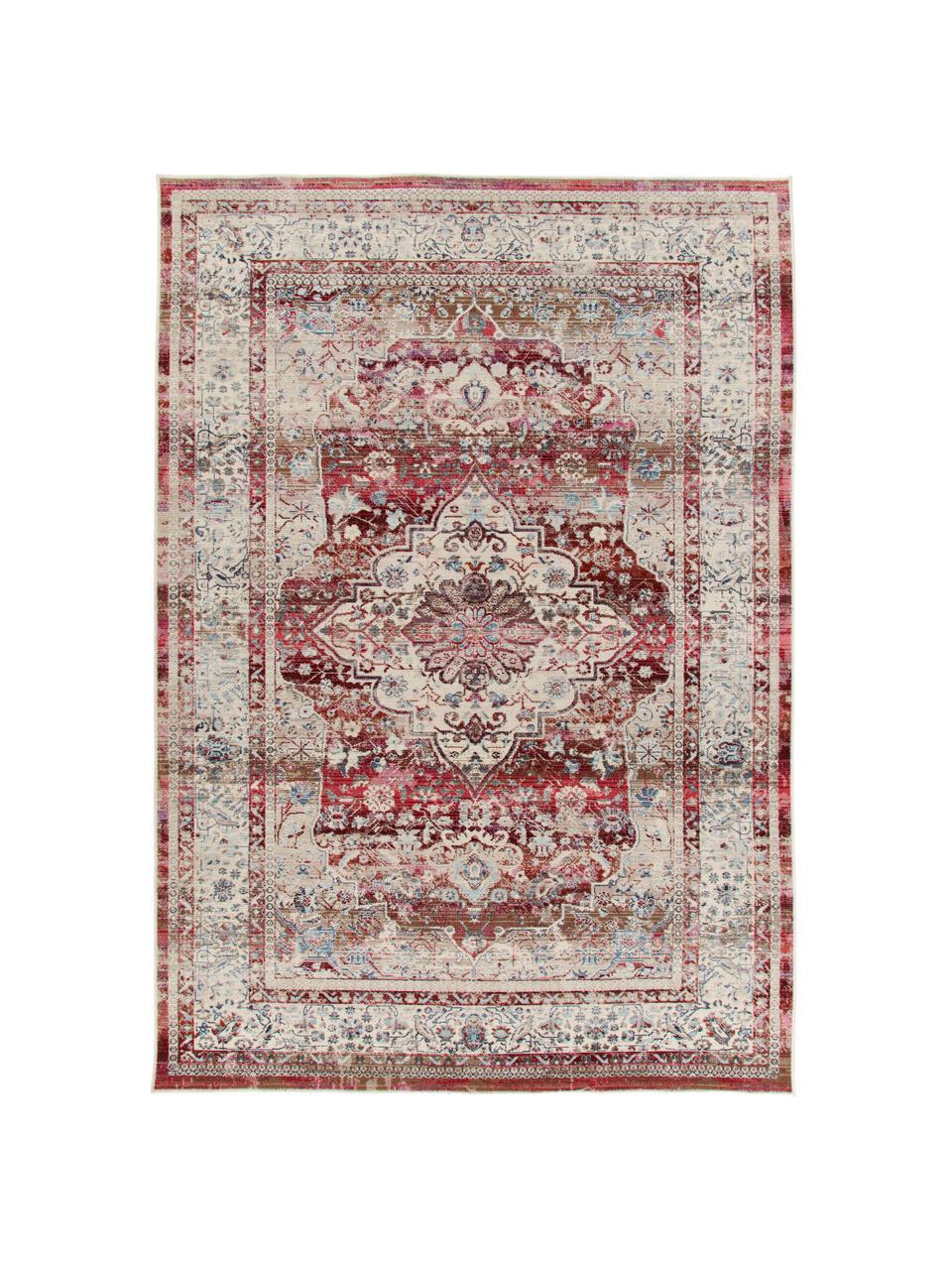 Dywan w stylu vintage Kashan, Beżowy, czerwony, niebieski, S 240 x D 300 cm (Rozmiar L)