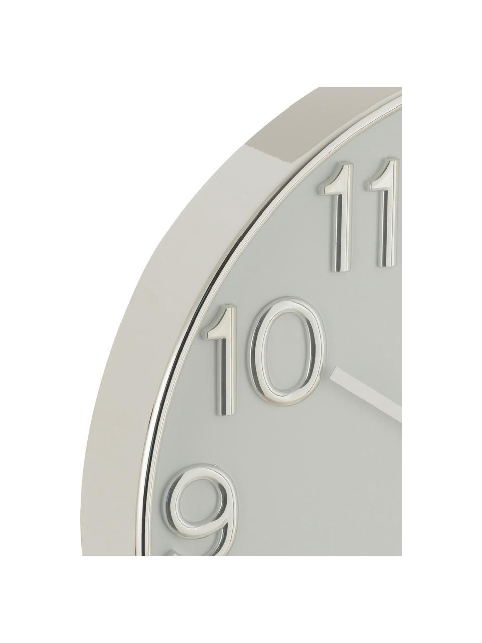 Wanduhr Arabic, Kunststoff, Silberfarben, Ø 40 cm