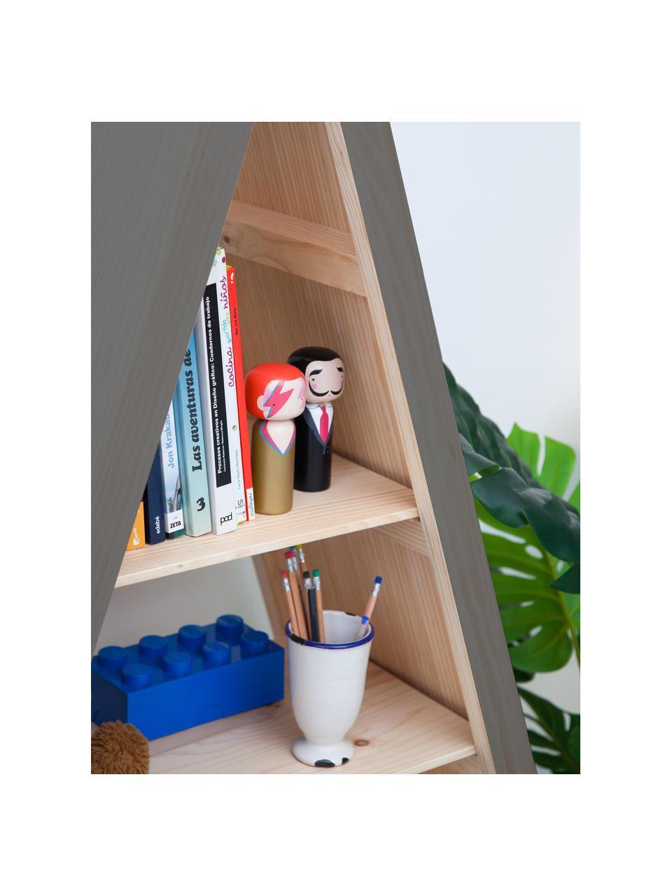 Standregal Helio, Kiefernholz, beschichtet, Grau, Kiefernholz, 96 x 172 cm